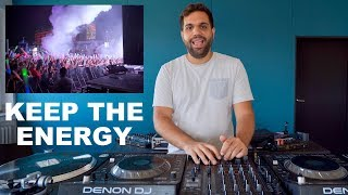DJ TIPS - HOW TO KEEP THE ENERGY UP & KEEP PEOPLE DANCING