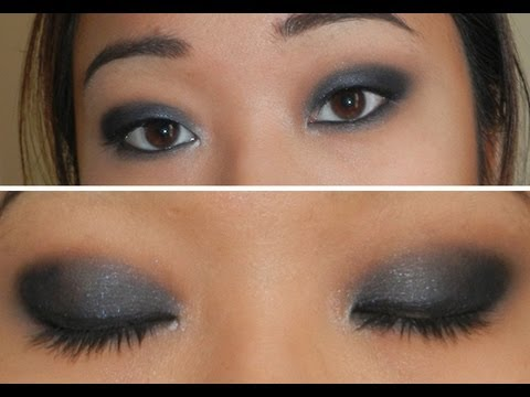 blue grey smoky eyes for monolid eyes smoky bleu gris pour yeux asiatiques youtube. Black Bedroom Furniture Sets. Home Design Ideas