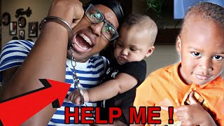 HANDCUFFED TO A BABY FOR 24HOURS !