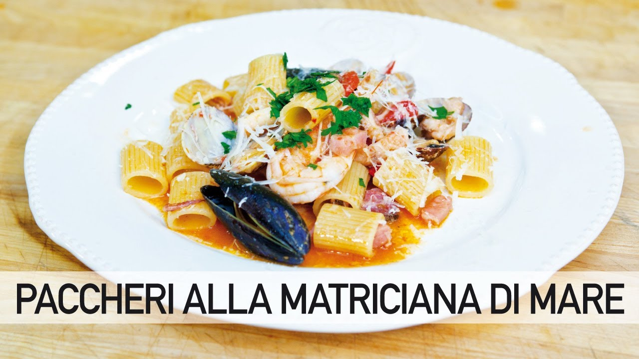 La Cucina di Emi. Rigatoni all\'amatriciana di mare. - YouTube