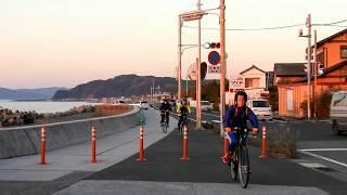 室戸サイクリング 室戸に向けて出発 高知市春野町 thumbnail