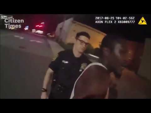 Asheville NC police beating man for jaywalking, trespassing