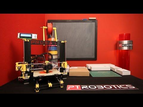 PTRoboticsTV - 27-12-2014 - BQ Impressora 3D Hephestos, acessórios e montagem em timelapse.