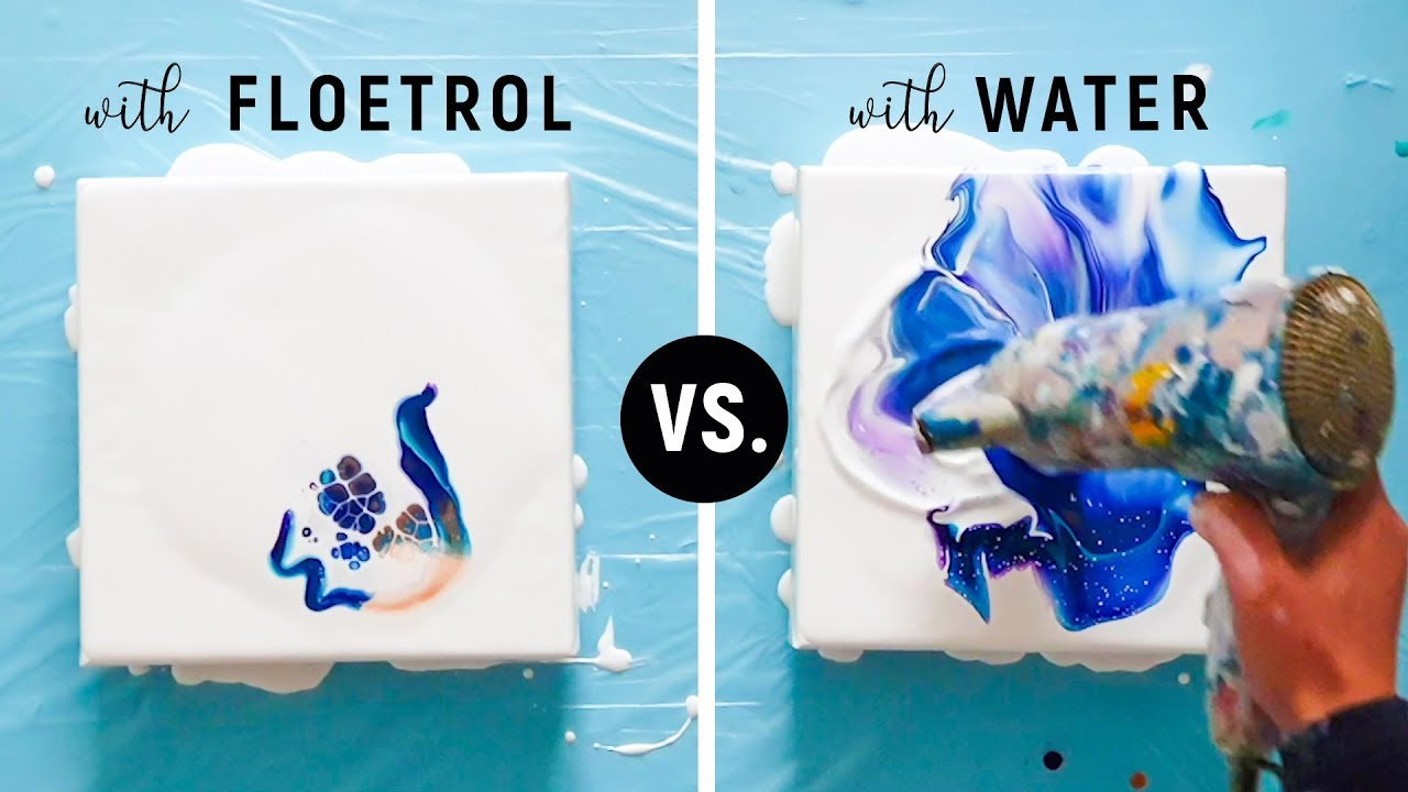 Floetrol Vs Water Different Results Mixing Fluid Paint