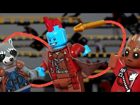 Lego Yondu Arrow Scene From Guardians Of The Galaxy Vol.2 With Rocket And Groot