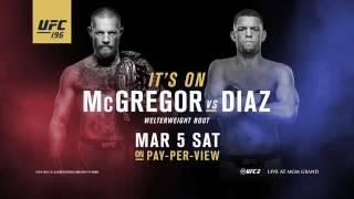Conor McGregor vs Nate Diaz staredown