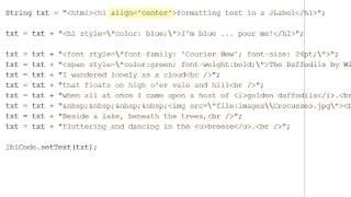 Java - Formatting text in a JLabel