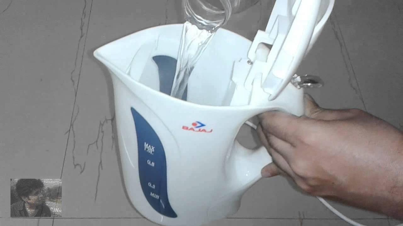 Bajaj cordless Kettle 1-Litre 1200-Watt REVIEW / Hands on | Indian ...