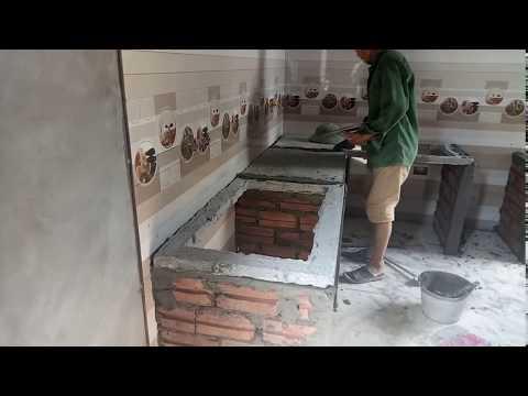 Как Построить и Установить Кухню Из Кирпича И Бетона