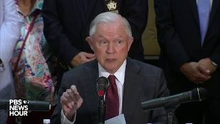 Attorney General Sessions announcement on asset forfeiture Free HD Video