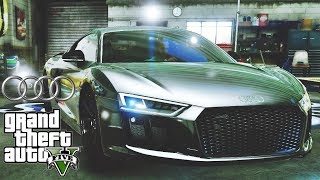Audi R8 V10 Plus 2017 tuning 🚗 GTA V ☢ Redux Extreme Graphics !!!