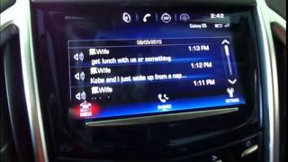Easiest Way to Use Text Messaging and Pairing with Cadillac CUE!