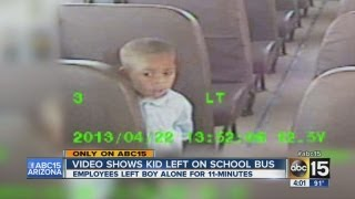 Video shows kid left on Valley school bus
