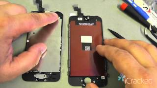 offical iphone 5s screen lcd replacement video instructions icracked com