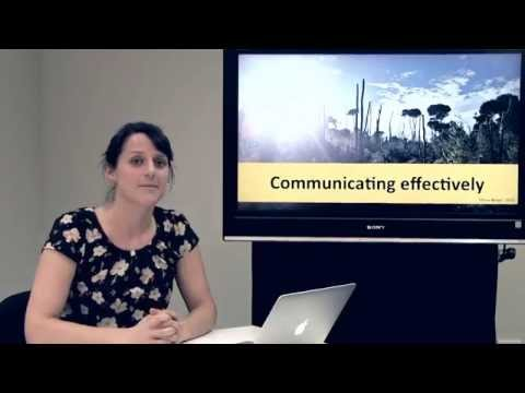 Communicating Effectively - Olivia Burge, School of Biological Sciences, University of Canterbury