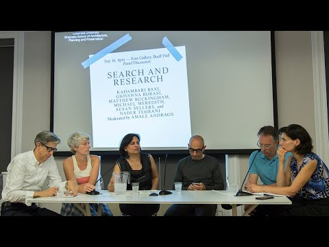Search and Research: Panel on the opening of the exhibition The Other Architect