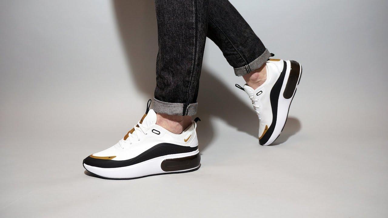 Nike Air Max Dia white black gold