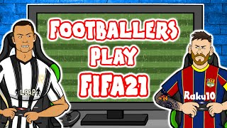 Footballers play FIFA 21! (Feat Ronaldo, Messi, Haaland, Neymar & more!)