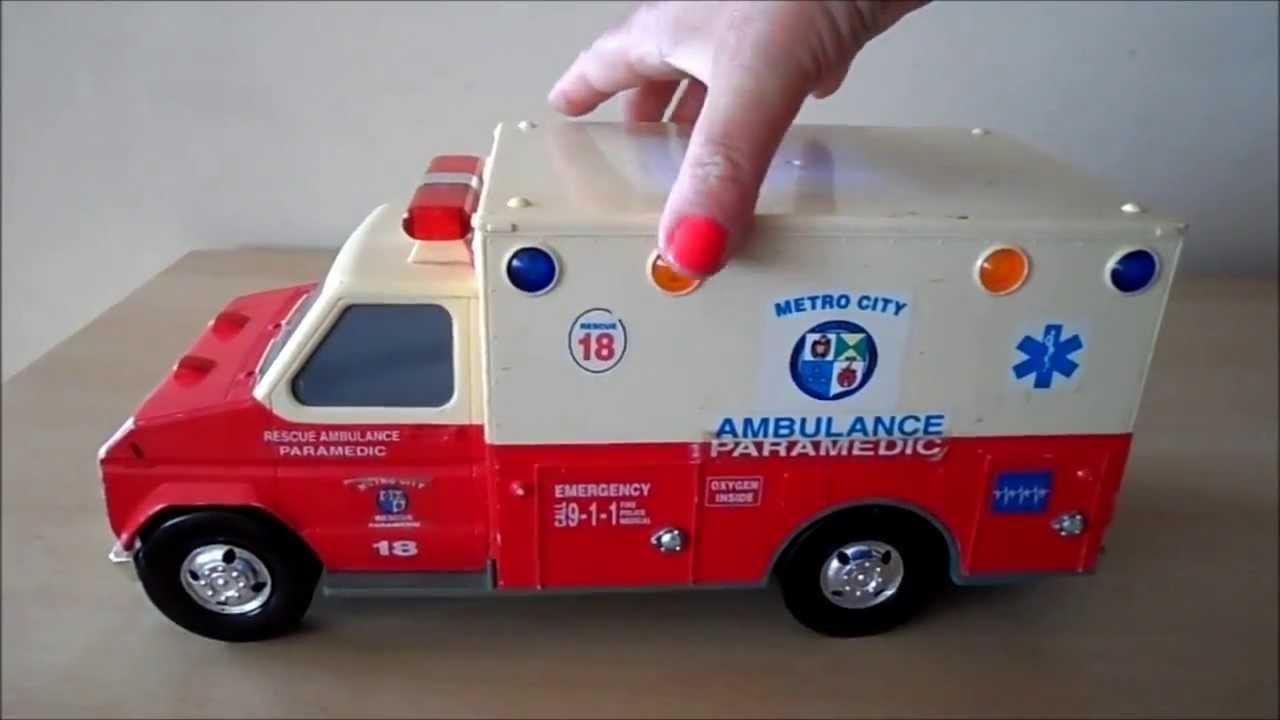 tonka toys paramedic ambulance toy youtube