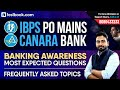 IBPS PO | Canara Bank | Banking Awareness Most Expected Questions Topic Wise | Abhijeet Sir