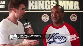 Rafael Cordeiro talks about Dos Anjos & Werdum evolution, 5 yrs at Kings MMA