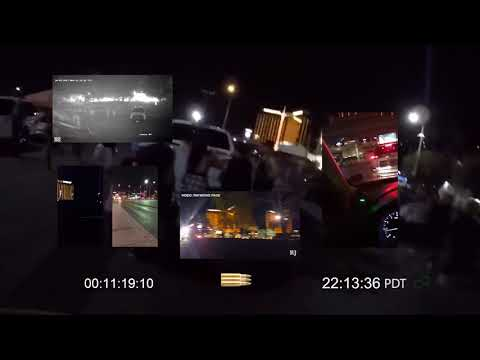 Las Vegas Shooting Timeline Eye Witness Videos & Police Scanner sync