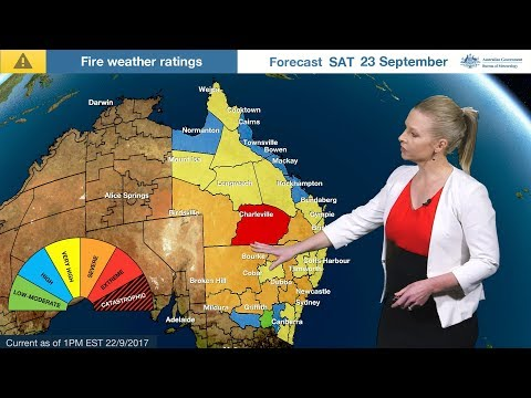 Severe Weather Update: Fire danger in NSW & Qld 22 September 2017