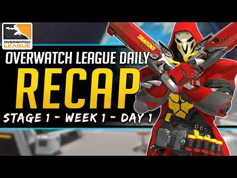 Overwatch League Daily Recap - Shanghai Dragons rough start - 14 Feb 2019 Stage 1 Week 1 Day 1 thumbnail
