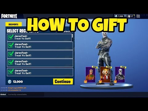 How to GIFT in Fortnite... Fortnite GIFTING System RELEASE DATE