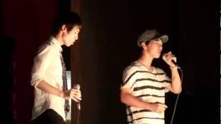 北嶺中・高等学校のカラオケ大会の決勝で歌いました。 優勝しました!