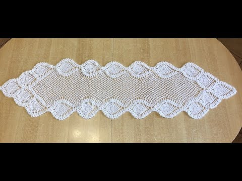 tuto chemin de table au crochet 1 2 youtube. Black Bedroom Furniture Sets. Home Design Ideas