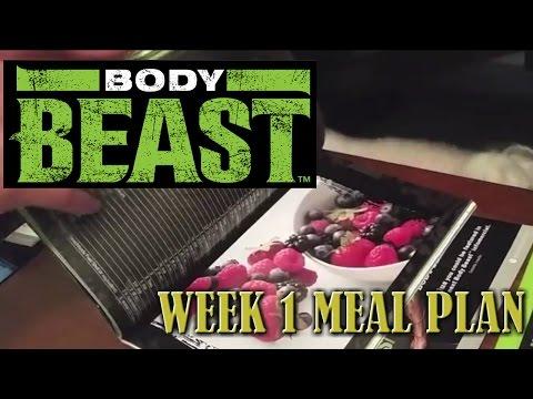 Body Beast 2015: Week 1 Meal Plan