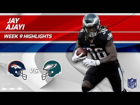 Jay Ajayi's Big Game w/ 77 Yards & 1 TD in Philly Debut! | Broncos vs. Eagles | Wk 9 Player HLs
