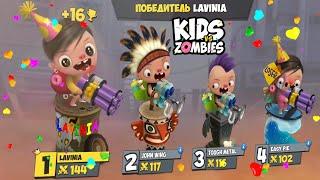 Лучшие моменты в Gameplay Kids VS Zombies на русском! Смешные моменты в видео игре Замбийки!
