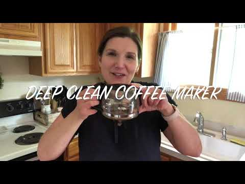 DEEP CLEAN COFFEE MAKER WITH VINEGAR