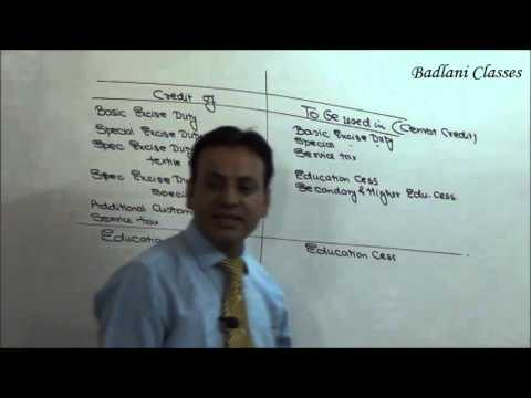 CENVAT CREDIT : AY 16-17 : IDT : Lecture 2 : Indirect Tax