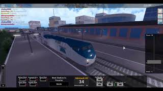 Roblox Rails Unimited: Guidare un treno Amtrak per Pinewood (Via Frontier)