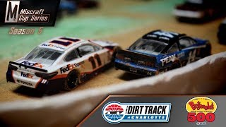 NASCAR Stop-Motion: Miscraft Cup Series // S5 R5 - Charlotte Dirt Track