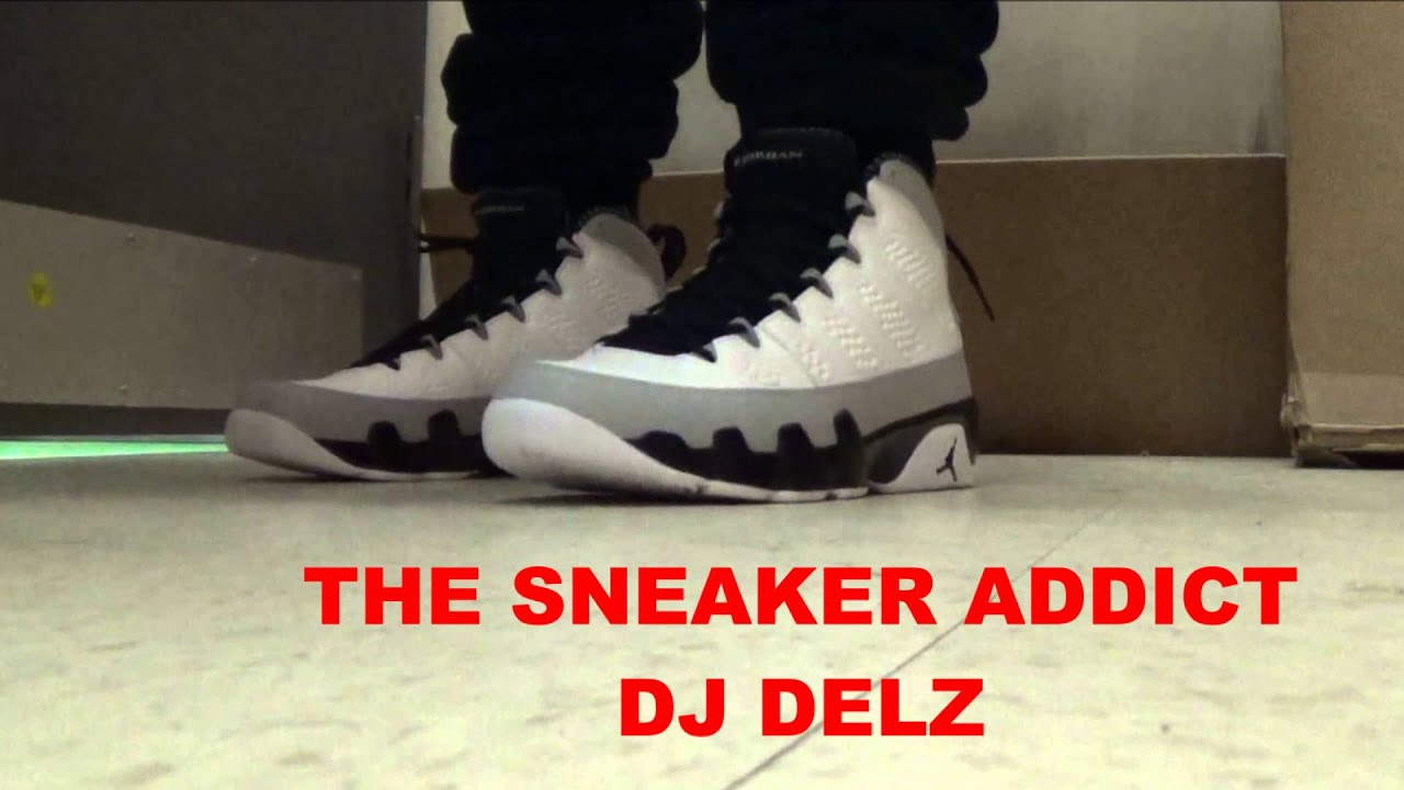 48e6d2717b39 2014 Jordan 9s Birmingham Baron IX 45 9 Sneaker On Foot With  DJDelz DJ DELZ