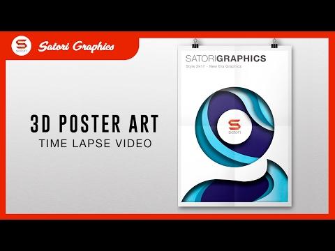 DESIGNING DOPE POSTER ART -  3D Poster Design