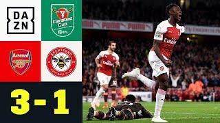 Danny Welbeck schießt Gunners weiter: FC Arsenal - Brentford 3:1 | Carabao Cup | DAZN Highlights