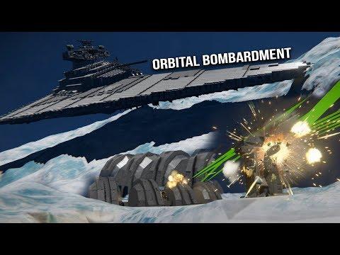 STAR WARS IMPERIAL FLEET vs HOTH BASE SHIELD - Space Engineers