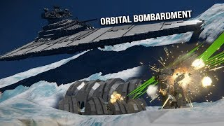 STAR WARS IMPERIAL FLEET vs HOTH BASE SHIELD - Space Engineers