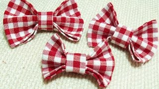 DIY No Sew Fabric Bow Tie Tutorial/ Kumaş Papyon Yapılışı