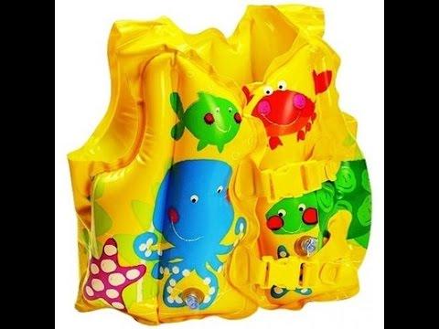 """Детский надувной жилет Intex 59661 """"Рыбки"""" Смотрим распаковку, видеообзор"""