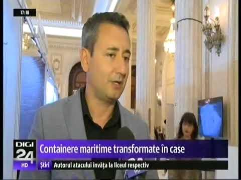 TNI la DIGI24 - Containere maritime transformate  in case