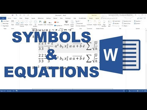 How To Use Symbols And Equations In Word