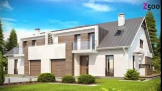 видео 4M546 Проект двухэтажного дома на две семьи с гаражом