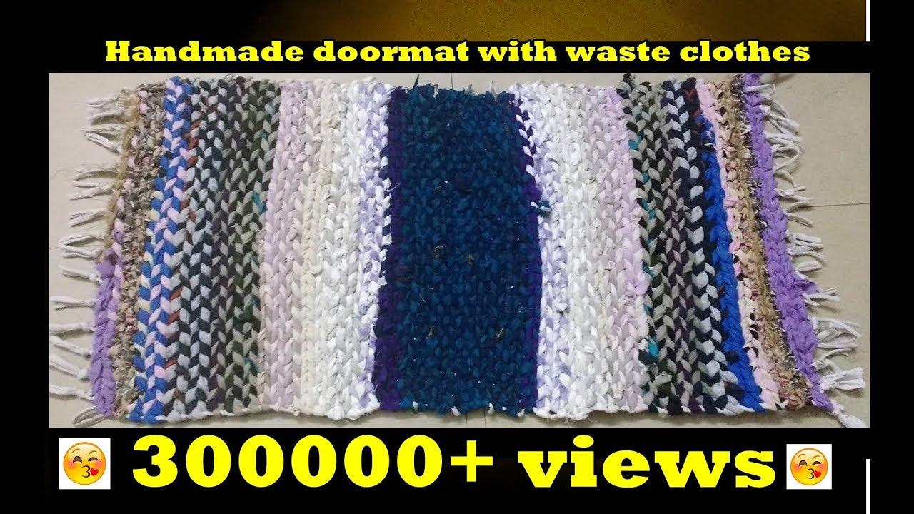 Handmade Doormat With Waste Clothes | Door Mats From Waste Clothes | Door  Mats Using Waste Clothes