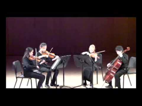 NJYS Chamber Music Concert May 22, 2015 Junior string quartet